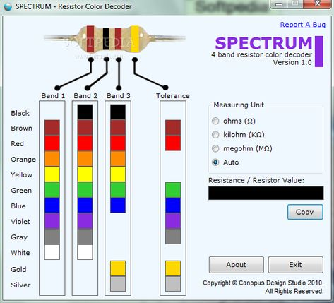 Todo técnico y más CALCULADORA DE CÓDIGO DE COLORES DE - resistor color code chart