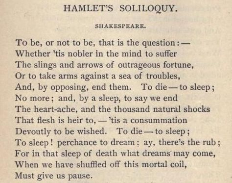 To Be Or Not Hamlet Act 3 Scene 1 Poetry Shakespeare Literature Quote Literary Quotes Soliloquy Paraphrase Hamlet' Meaning Analysi Translation