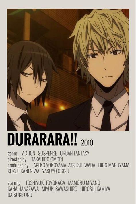 durarara!! poster by emily