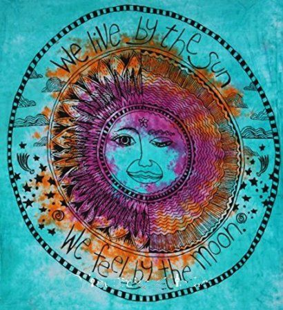 We Live By The Sun Feel Moon Tapestry I Likeeee Pinterest Tie Dye And Room