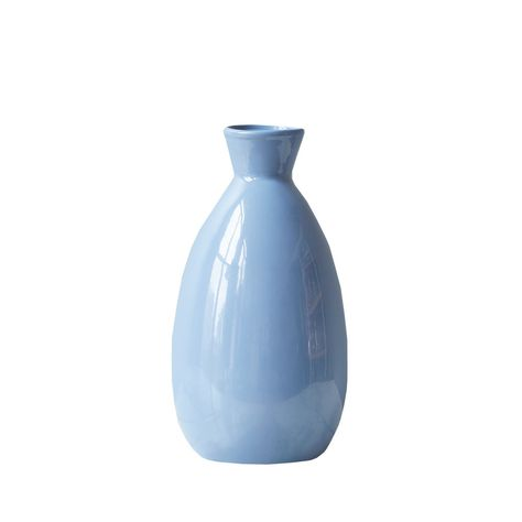Recycled Glass, Recycled Materials, Navy Paint, Round Vase, French Blue, Ginger Jars, Organic Shapes, High Gloss, Accent Decor