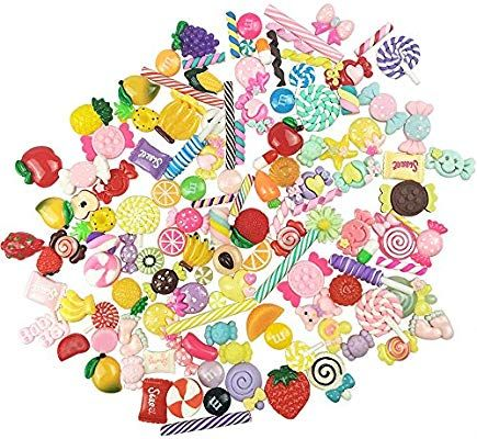 10 Cherry Pieces Slime Charms  Cabochon  Slime Supplies  Charms for Slime  Slime  Cheap Slime  Charms  Clear Slime  Charm