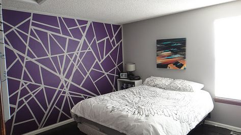 a masking tape wall!! Could be a cool teenager room.