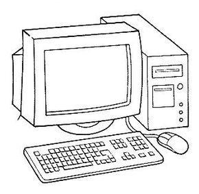Maestra De Infantil Medios De Comunicacion Para Colorear Computadora Para Colorear Computadora Para Ninos Tecnologia Para Ninos