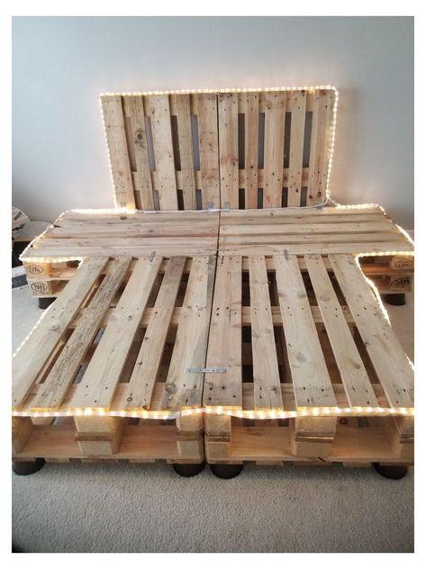 Wood Pallet Beds, Diy Pallet Bed, Headboard Pallet, Pallet Bed Frames, Diy Pallet Queen Bed Frame, Rustic Bed Frames, Western Bedroom Decor, Room Decor Bedroom, Bedroom Ideas