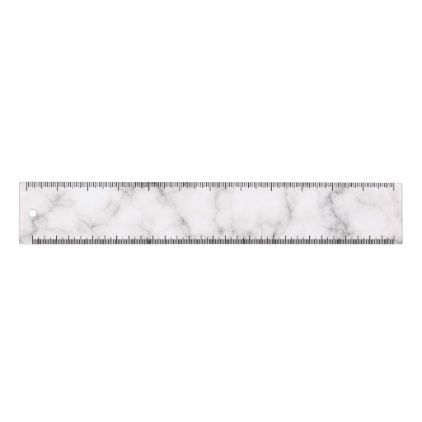 Elegant Marble style Ruler - marble gifts style stylish nature unique personalize