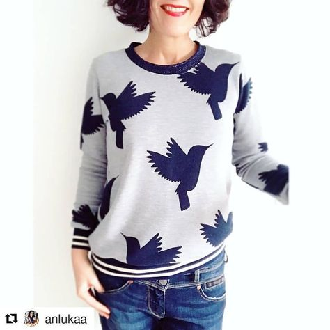 The # sweatshirt01 seems to please you! anlukaa has sewn a cool sweatshirt. The cut is just so changeable.
