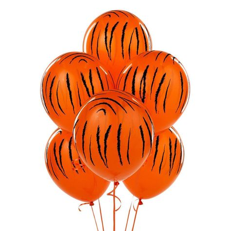 Jungle Tiger Stripes Latex Balloons