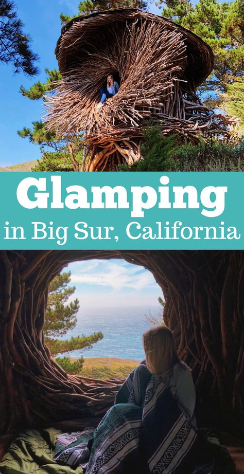 Glamping in Big Sur: Twig Hut at Treebones Resort - Car X Big Sur California, California Coast, Northern California Travel, California California, California Camping, Dream Vacations, Vacation Spots, The Places Youll Go, Places To See