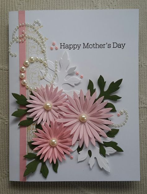 Contagiously Crafty - Heartfelt Creations' Delicate Asters Mother's Day Card Contagiously Crafty - H Handmade Greetings, Greeting Cards Handmade, Cute Cards, Diy Cards, Holiday Cards, Christmas Cards, Prim Christmas, Mother Card, Fathers Day Cards