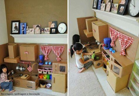 Tan facil de hacer una cocina para niños con niños