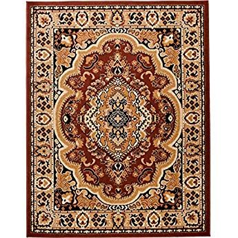 Carpeto Rugs Tapis Salon Marron 140 X 200 Cm Oriental Verona Collection Tapis Tapis Bleu Tapis Salon