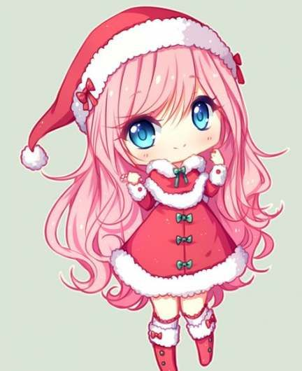 Drawing Christmas Anime 23 Super Ideas Cute Anime Chibi Anime Christmas Anime Chibi