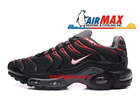 Nike Air Max Plus Tn Requin Noir Rouge Chaussures De Basketball