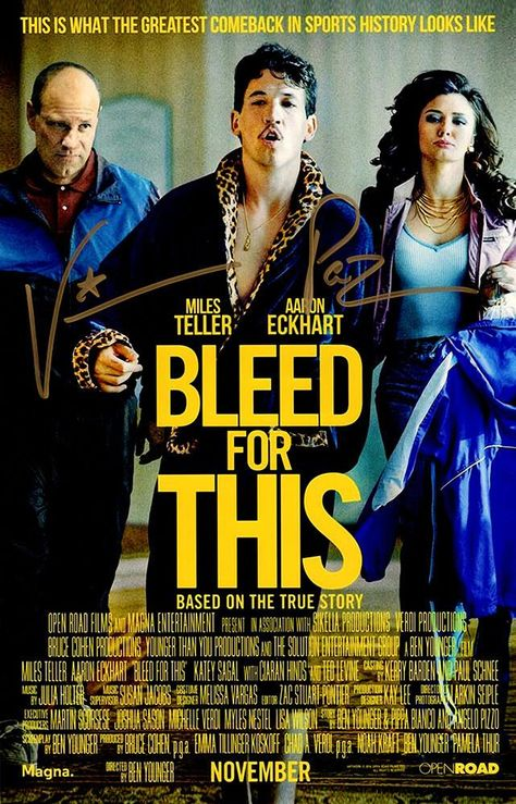 Vinny 'Paz' Pazienza Signed Bleed For This 11x17 Movie Poster