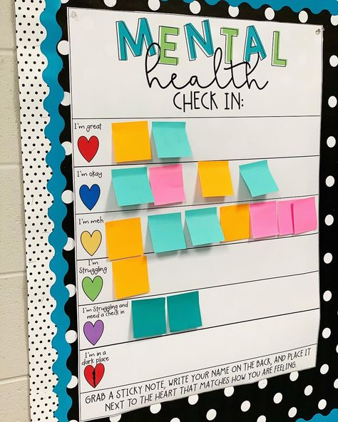 Clever teacher's mental health check-in chart inspires educators to create their own