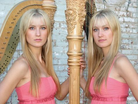 Camille and Kennerly the gorgeous Harp Twins