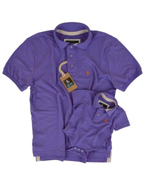 bb70d211a0 Kit Camisa Polo moda Tal Pai Tal Filho iguais Roxo
