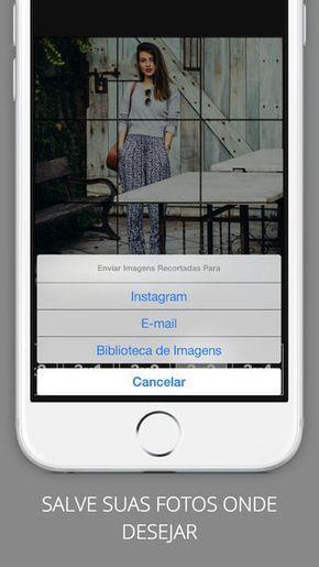 Aplicativo De Recorte De Imagens Para Mosaico No Instagram