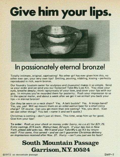 1972:  Give Him Your Lips