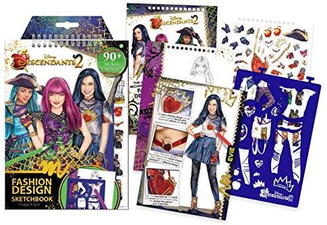 Amazonsmile Make It Real Disney Descendants 2 Fashion Design Sketchbook Disne With Images Fashion Design Coloring Book Designs Coloring Books Fashion Design Sketchbook