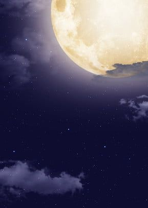 Dark Blue Night White Cloud Floating Tanabata Full Moon Background Colorful Clouds Sky And Clouds Background Images