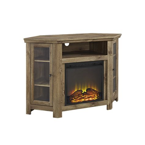 48 Corner Fireplace Tv Stand Barnwood Fireplace Tv Stand