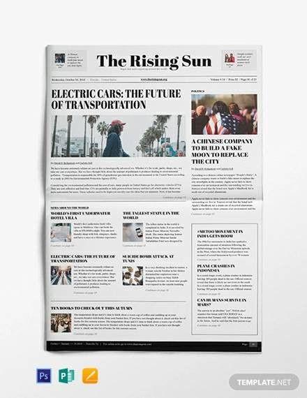 Microsoft Word Newspaper Template In 2021