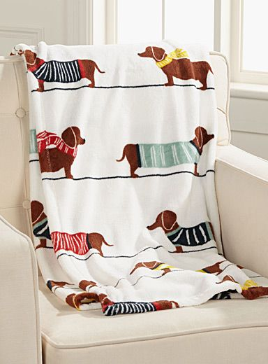 Chic Dachshund Dog Throw 130 X 180 Cm