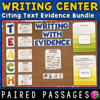 Paired Passages Writing Center Citing Text Evidence Bundle