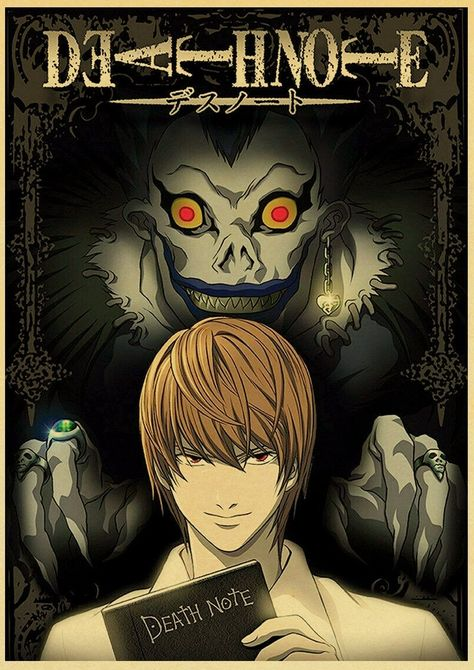 HD classic Japanese anime death note family wall decoration prints wall stickers retro style bar children's room poster o233 - 35cmX50 cm No Frame / 3