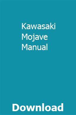 Kawasaki Mojave Manual Repair Manuals Manual Repair