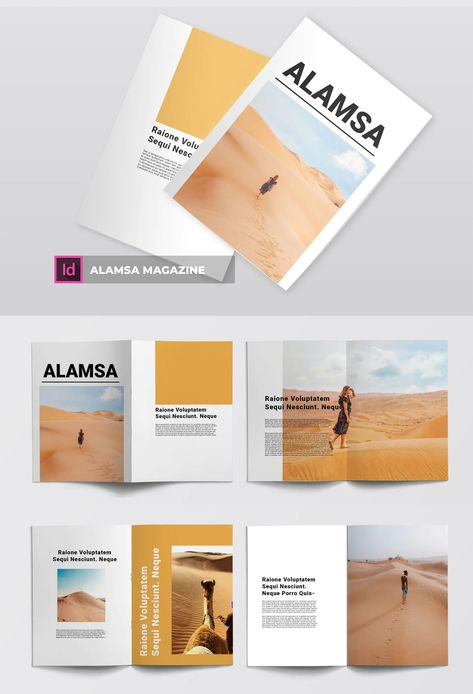 Business and Personal Needs Magazine Layout Design
