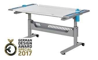 Paidi Schulerschreibtisch Tablo Kreideweiss Azurblau In 2020 Drafting Desk German Design Desk