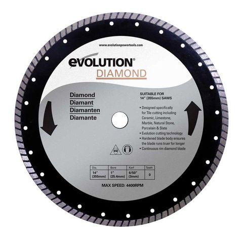 Evolution Power Tools 14 In Diamond Masonry Blade Blade Slab Ceramics Chop Saw