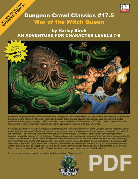 Dungeon Crawl Classics #17.5: War of the Witch Queen – PDF