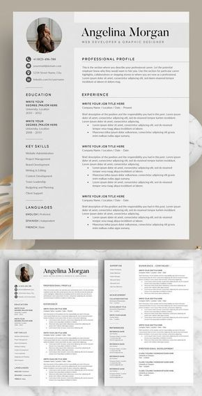 12 Professional Ms Word Resume Template For Best Price Resume Etsy Minimalist Resume Template Minimalist Resume Resume Examples