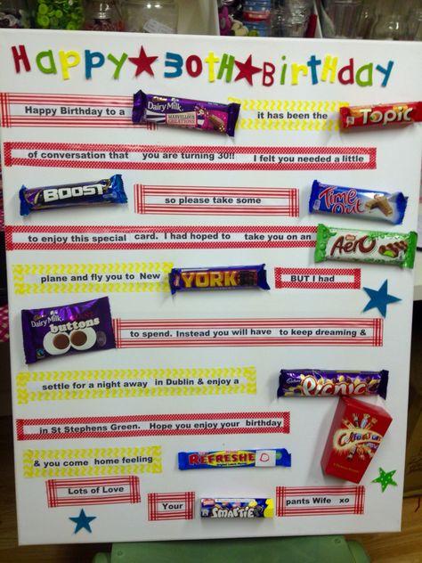 Birthday Card Made With Chocolate Bars Card Making Birthday Special Cards Birthday Cards