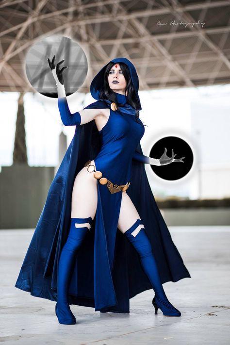 Teen titans Raven cosplay by Florencia Sofen Cosplay photo by Jesús Alcaide Fotografía