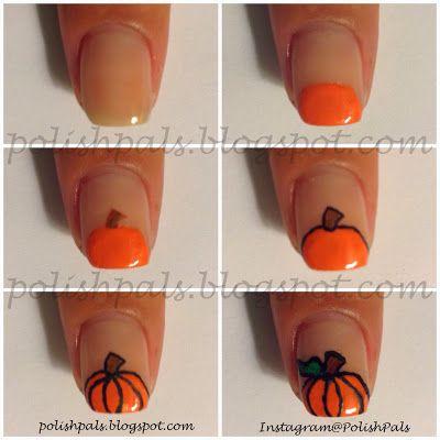 21 amazing thanksgiving nail art ideas cute pumpkin polish pals pumpkin tutorial prinsesfo Choice Image