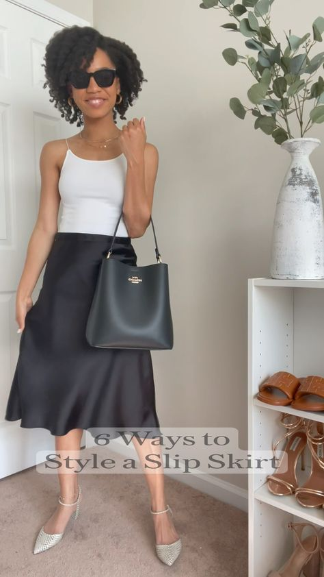 6 Ways to  Style a Slip Skirt
