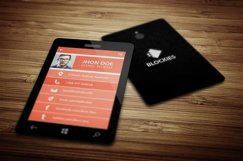Smart Phone Business Card V5 By JigsawLab On Creative Market