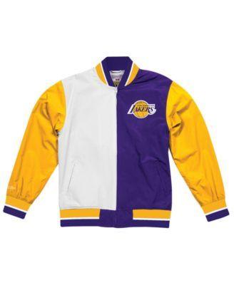 Mitchell Ness Men S Los Angeles Lakers History Warm Up Jacket Purple Xl Macys Fashion Jackets Swimwear Tops
