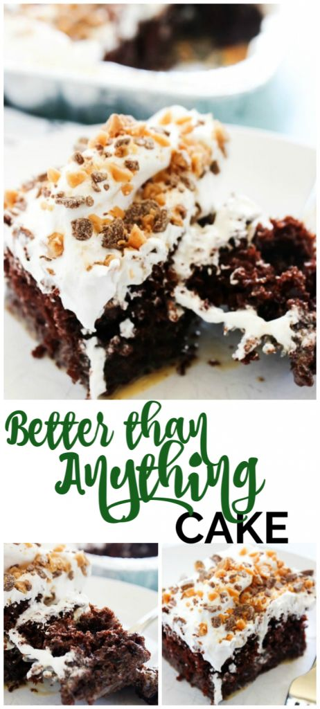 Better Than Anything Cake Recipe Better Than Anything Cake Toffee Cake Recipe Milk Dessert
