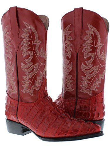 a3fed4be5ad Team West Texas Legacy – Men's Red Crocodile Tail Print Leather ...
