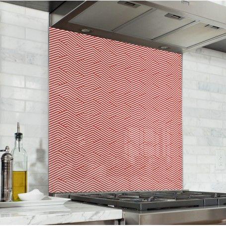 Fond De Hotte De Cuisine Motif Geometrique Zigzag Fond De