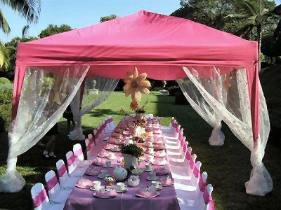 Tent Decoration looking like a blossoming flower!! Paper lanterns in the  center of the