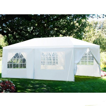 Gymax 10 X20 Heavy Duty Canopy Party Gazebo Cater Event Wedding Tentwithside Walls Walmart Com Patio Tents Party Gazebo Gazebo