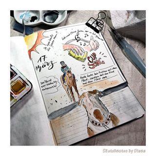 Sketchnotes Und Handlettering Im Bullet Journal Sketchnotes By Diana Bullet Journal Reiten Journal