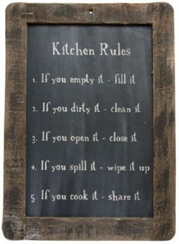 The Kitchen Rules Blackboard Is A Must Have For Every Kitchen Or